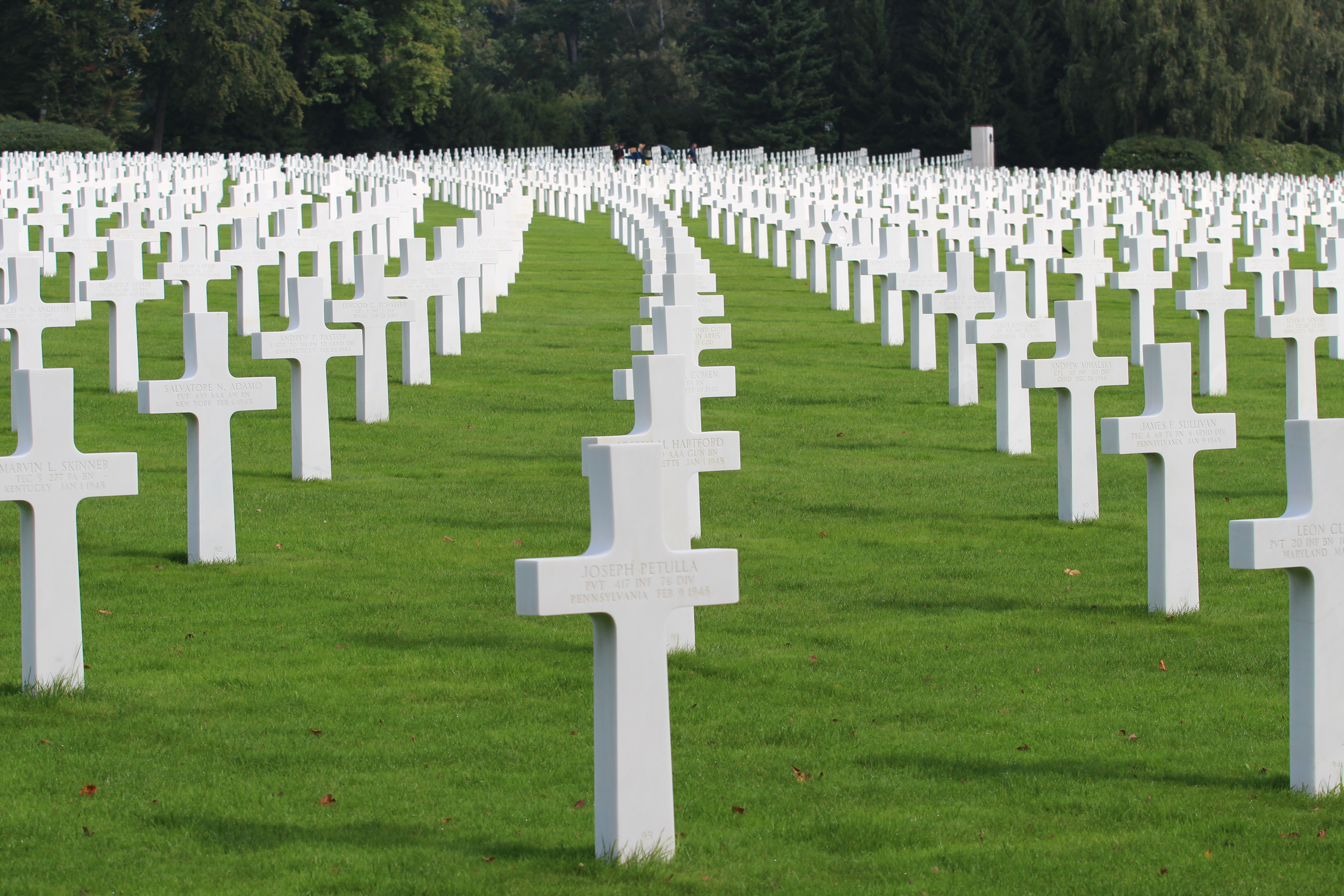 Luxembourg American Cemetery And Memorial Wake Up And Smell The Joy - Arlington cemetery on us map